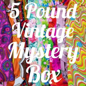 5 Pounds of Vintage Items Rad Mystery Reseller Box